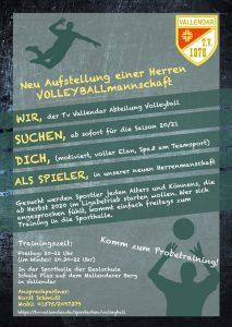 Wir suchen Volleyballer für eine Herrenmannschaft